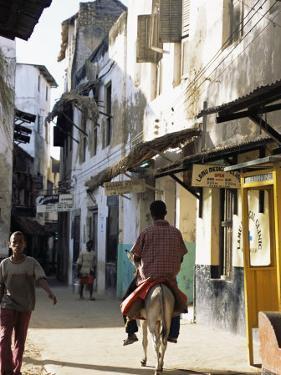 Street Scene, Lamu, Kenya, East Africa, Africa by Storm Stanley