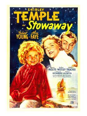 Stowaway, Shirley Temple, Alice Faye, Robert Young, 1936