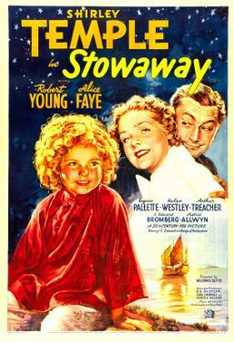 Stowaway, Shirley Temple, Alice Faye, Robert Young, 1936