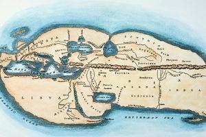 Strabo World Map, C20 A.D