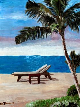 Strand Chairs On Caribbean Beach Or by M Bleichner
