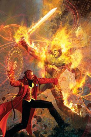 Strange No.6 Cover: Dr. Strange and Dormammu Fighting