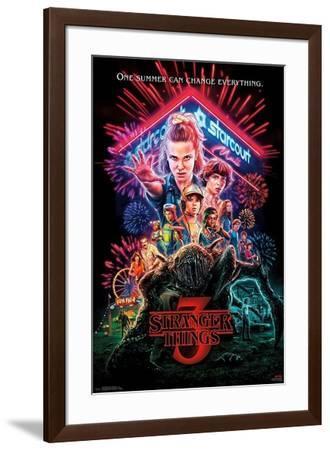 Stranger Things 3 - One Summer--Framed Poster
