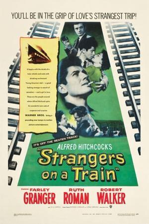 STRANGERS ON A TRAIN, Farley Granger, Robert Walker, Ruth Roman, 1951