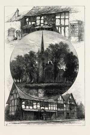 Stratford Church, and Shakespeare's House, as it Was and as it Is, UK, 19th Century