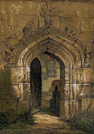 Stratford Church, Warwickshire, England, 1845