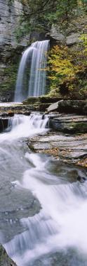 Stream Flowing Below a Waterfall, Eagle Cliff Falls, Montour Falls, Havana Glen, New York, USA