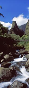 Stream Flowing Through a Valley, Iao Needle, Iao Valley, Wailuku, Maui, Hawaii, USA