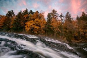 Stream flowing through rocks, Buttermilk Falls, Adirondack Mountains State Park, New York State...