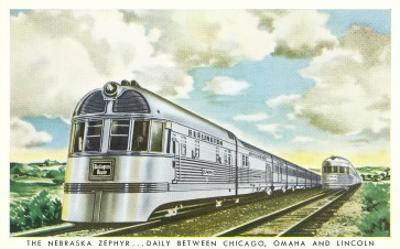 Streamlined Nebraska Zephyr Train