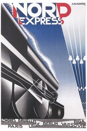 Streamlined Train Poster