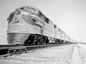 Streamliner Traveling along the Illinois Central Line