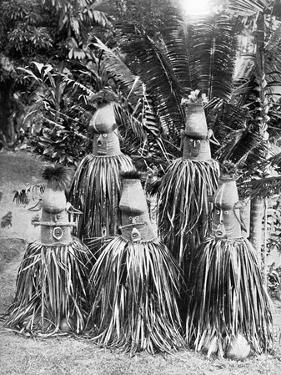 Masks Possessing Magical Qualities, Bismarck Archipelago, Papua New Guinea, 1920 by Strecker and Schroder