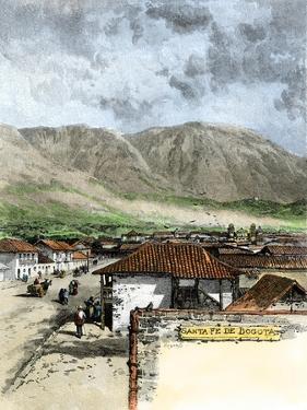 Street in Bogota, Columbia, 1880s