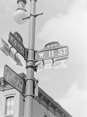 Street Light with Signs