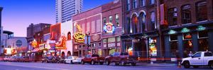 Street Scene at Dusk, Nashville, Tennessee, USA