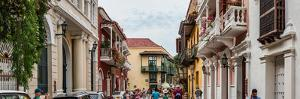 Street scene in Old Town, Cartagena, Bolivar, Colombia