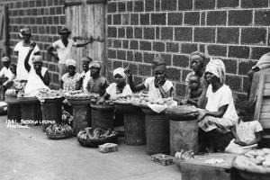 Street Traders, Freetown, Sierra Leone, 20th Century
