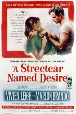 Streetcar Named Desire, Vivien Leigh, Marlon Brando, 1951