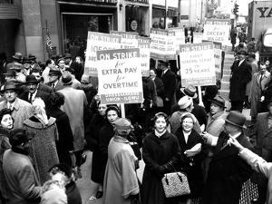 Striking Members of the International Lady Garment Workers Union (Ilgwu) Picket on 7th Ave.