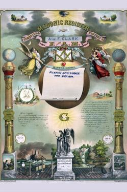 Symbols - Masonic Register by Strobridge & Gerlach