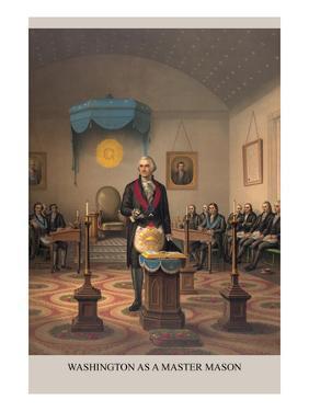 Symbols - Washington as a Free Mason by Strobridge & Gerlach
