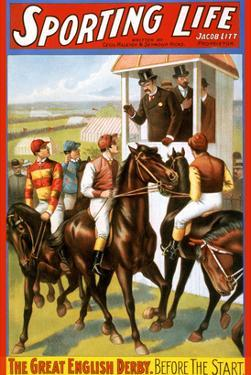 The Great English Derby. before the Start. by Strobridge Lithograph Co