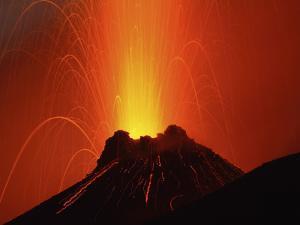 Stromboli Eruption, Aeolian Islands, North of Sicily, Italy