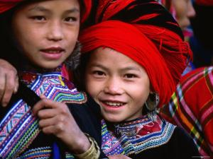 Ethnic Red H'mong of Northern Vietnam Are Known for Their Big Hair, Muong Hum, Lao Cai, Vietnam by Stu Smucker