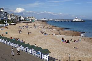 Beach and Pier, Eastbourne, East Sussex, England, United Kingdom, Europe by Stuart Black