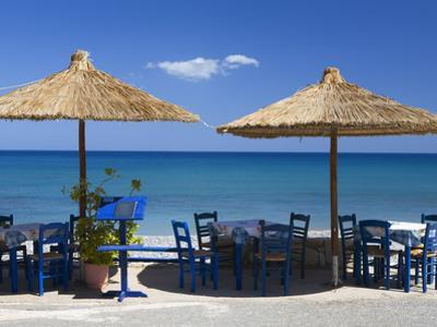 Beach Cafe, Kato Zakros, Lasithi Region, Crete, Greek Islands, Greece, Europe by Stuart Black