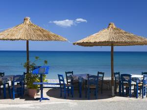 Beach Cafe, Kato Zakros, Lasithi Region, Crete, Greek Islands, Greece, Europe by Stuart Black