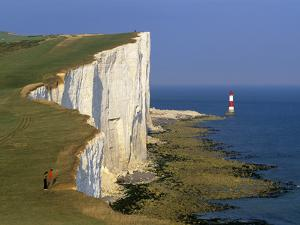 Beachy Head Lighthouse and Chalk Cliffs, Eastbourne, East Sussex, England, United Kingdom, Europe by Stuart Black