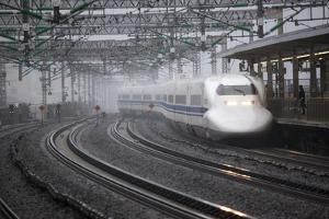Bullet Train at Shin-Osaka Station, Osaka, Kansai, Japan, Asia by Stuart Black