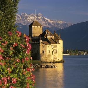 Chateau De Chillon (Chillon Castle) on Lake Geneva, Veytaux, Vaud Canton, Switzerland by Stuart Black