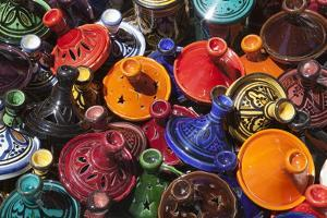 Colourful Tajines, Essaouira, Atlantic Coast, Morocco, North Africa, Africa by Stuart Black
