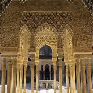 Court of the Lions, Alhambra Palace, UNESCO World Heritage Site, Granada, Andalucia, Spain, Europe by Stuart Black