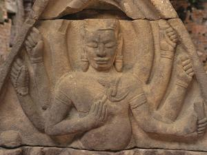 Detail of Carving of Hindu Divinity, Cham Ruins of My Son, UNESCO World Heritage Site, Near Hoi An, by Stuart Black