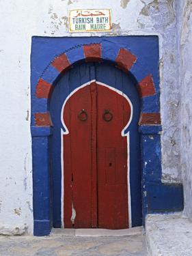 Doorway to Turkish Baths in the Medina, Hammamet, Cap Bon, Tunisia, North Africa, Africa by Stuart Black