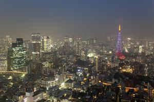 Dusk View of Tokyo from Tokyo City View Observation Deck, Roppongi Hills, Tokyo, Japan by Stuart Black