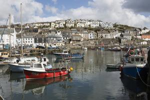 Fishing Boats in Fishing Harbour, Mevagissey, Cornwall, England, United Kingdom, Europe by Stuart Black