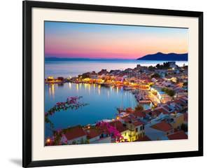Greek Harbour at Dusk, Samos, Aegean Islands by Stuart Black