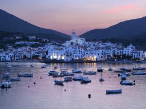 Harbour at Dusk, Cadaques, Costa Brava, Catalonia, Spain, Mediterranean, Europe by Stuart Black