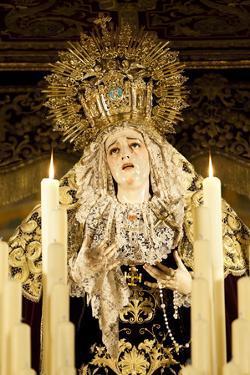 Image of Virgin Mary on Float (Pasos) Carried During Semana Santa (Holy Week) by Stuart Black