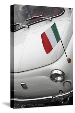 Italian Flag on Fiat 500 Car, Rome, Lazio, Italy, Europe by Stuart Black