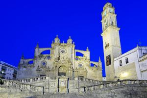 Jerez de la Frontera Cathedral at night, Jerez de la Frontera, Cadiz province, Andalucia, Spain, Eu by Stuart Black