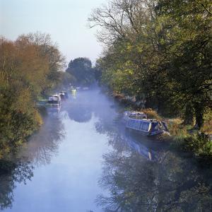 Kennet and Avon Canal in Mist, Great Bedwyn, Wiltshire, England, United Kingdom, Europe by Stuart Black