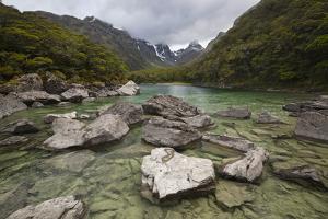 Lake Mackenzie, Routeburn Track, Fiordland National Park, South Island, New Zealand, Pacific by Stuart Black
