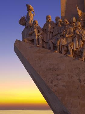 Monument to the Discoveries at Dusk, Belem, Lisbon, Portugal, Europe by Stuart Black