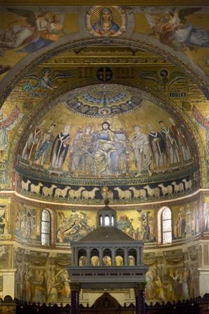 Mosaics Inside the Church of Santa Maria in Trastevere by Stuart Black
